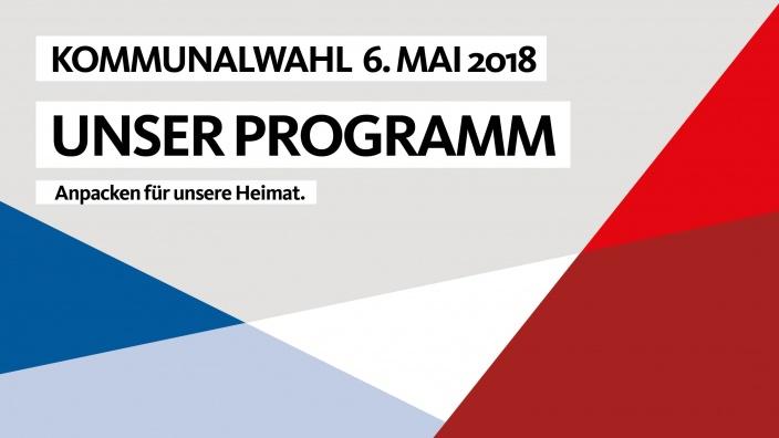 Unser Programm für die Kommunalwahl
